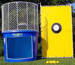 Dunk Tank Setup in Garden