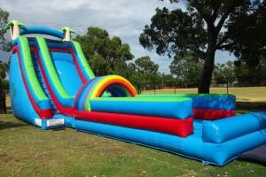 Giant Water Slide Setup in Park