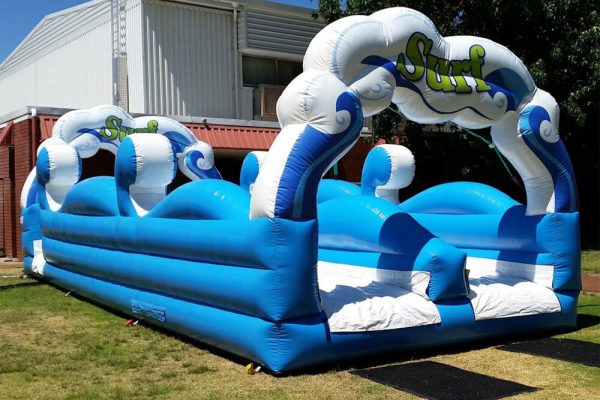 Inflatable Fantastic Surf Water Slide on Grass