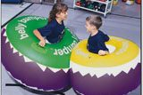 2 Children Playing in 90cm Belly Bumpers