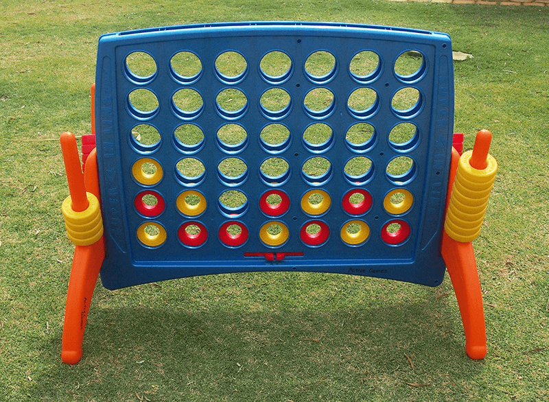 Giant Connect 4 Game Setup on Grass
