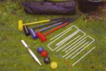 Croquet Set Lying on Grass
