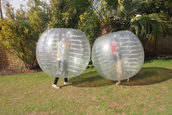 2 People in Zorb Balls