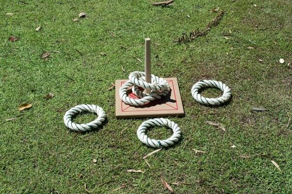 Quoits Game on Grass