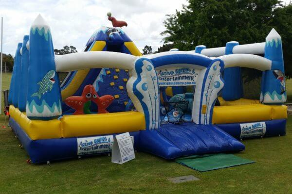 Front View of Pacific Combo Inflatable Bouncy Castle