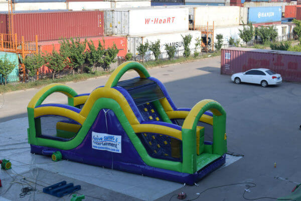 Side View of Radical Run Inflatable Obstacle Course Slide Section