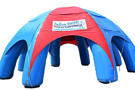 Large Red & Blue Inflatable Tent