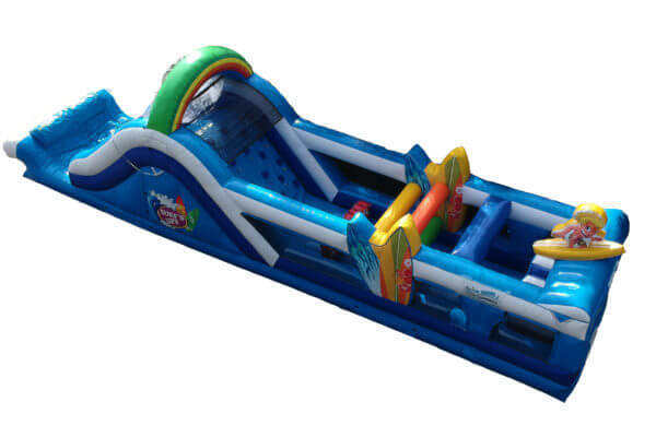 Overhead view of Surf's Up Inflatable Obstacle Course